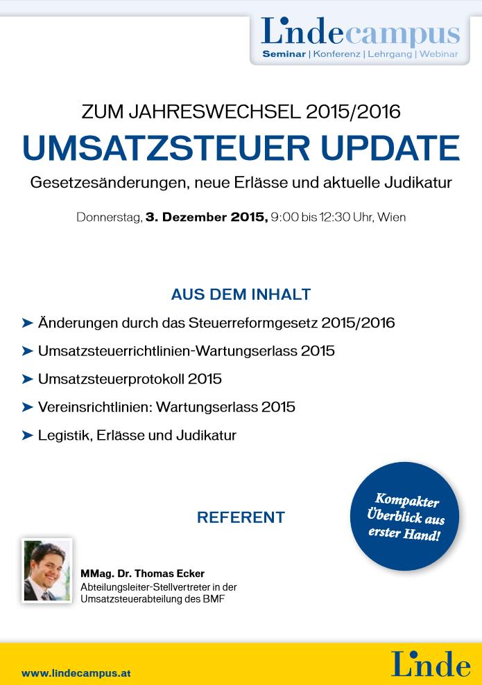 Umsatzsteuer Update