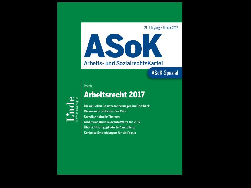 Asok Spezial Arbeitsrecht 2017 Zu Mobbing Kündigung Co