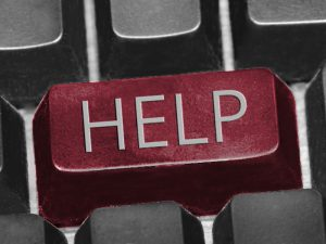 Sujet Text auf Tastatur Help Credit ejn 300x225