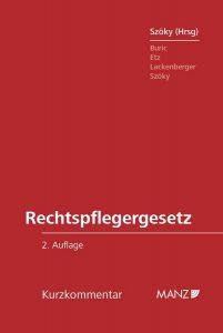Rechtspflegergesetz c Manz 201x300
