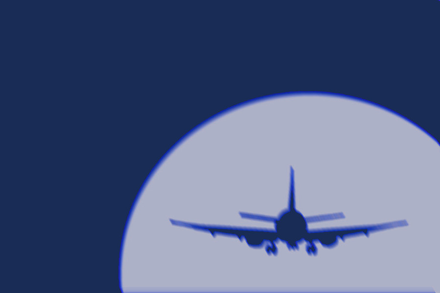 Sujet Flugzeug blau Credit ejn