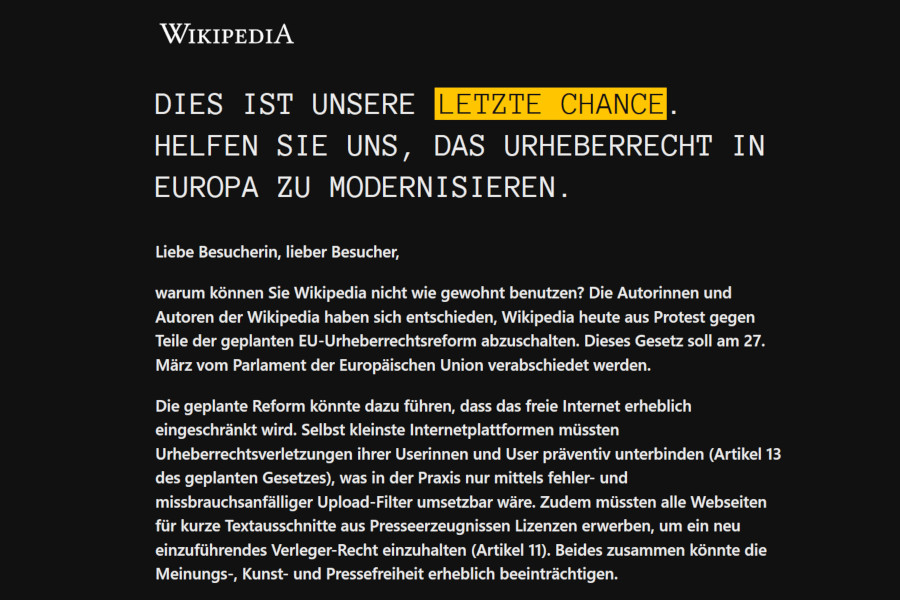 Wikipedia Blackout Credit Wikipedia