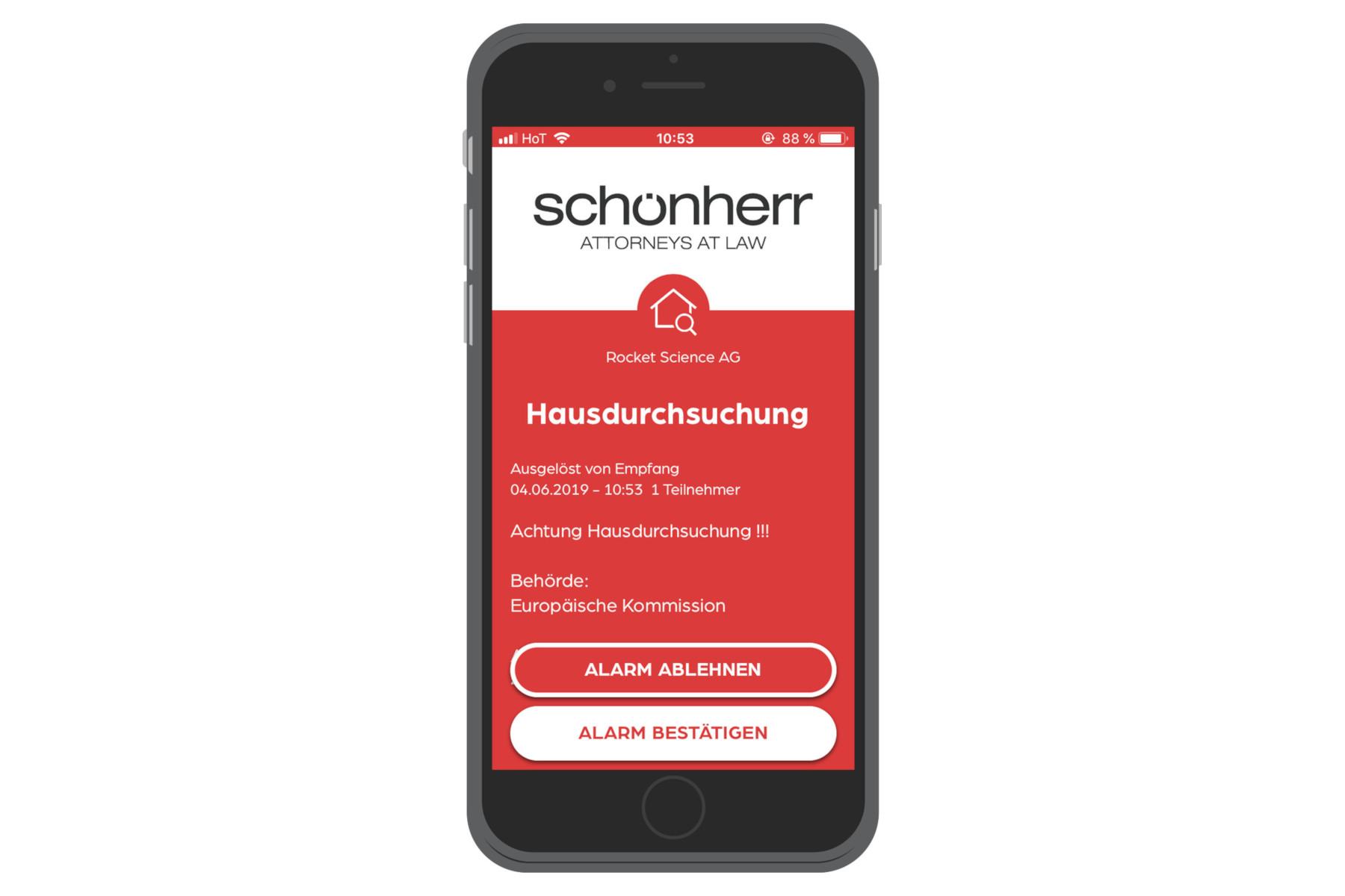 Schönherr Dawn Raid App Credit SafeREACH