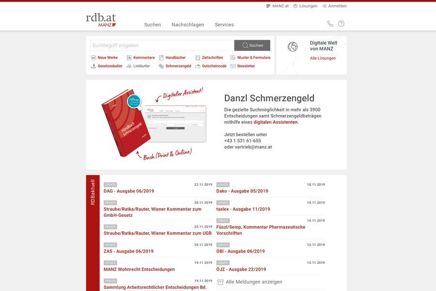 RDB Rechtsdatenbank Credit Manz