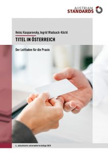 Titel in Oesterreich c Austrian Standards 212x300