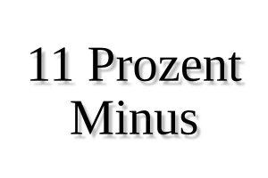 11 Prozent Minus